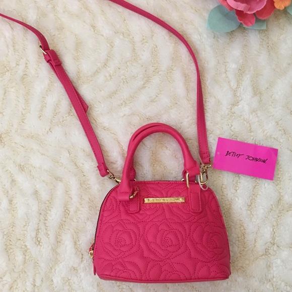 Betsey Johnson Handbags - Betsey Johnson top handle crossbody coral handbag
